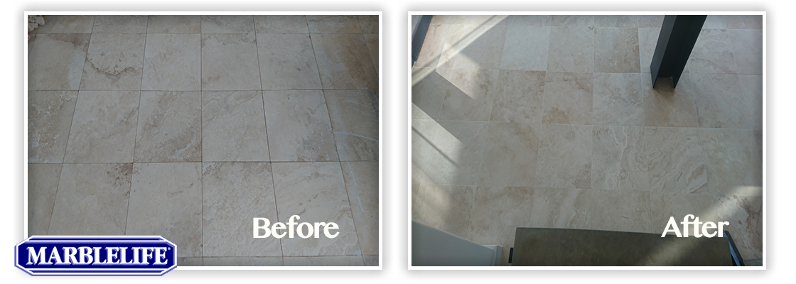 Travertine Before & After - 12